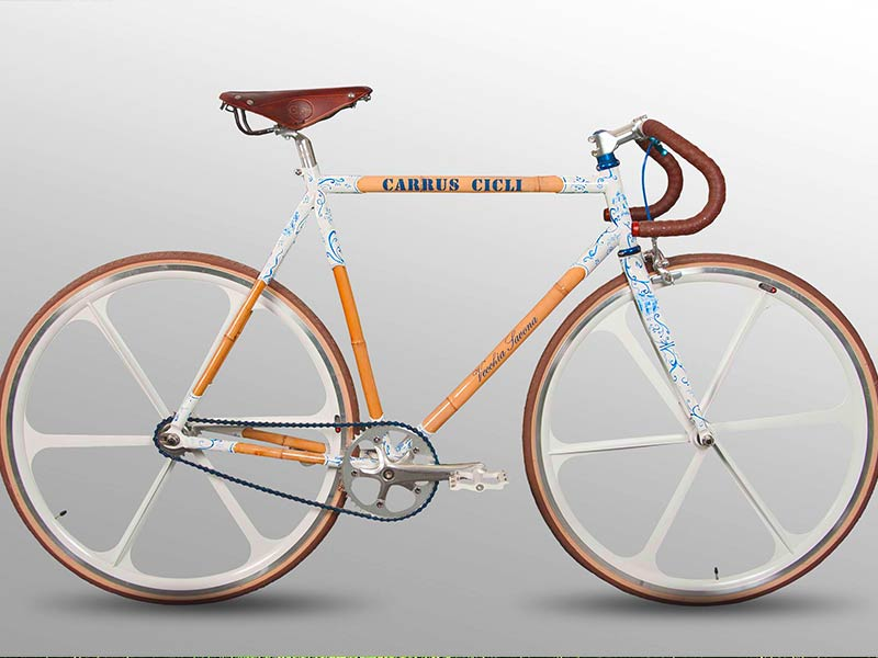 Bicicletta da corsa bambù - Carrus Cicli biciclette Savona