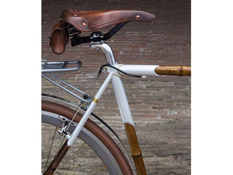 congiunzioni in microfusione, dipinta a mano, bicicletta bamboo, telai su misura
