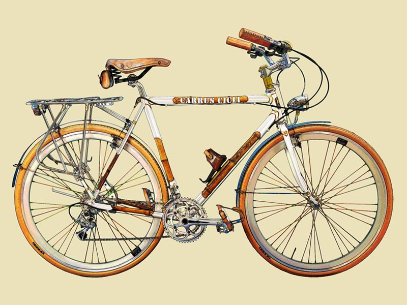Bozza disegno bicicletta su misura